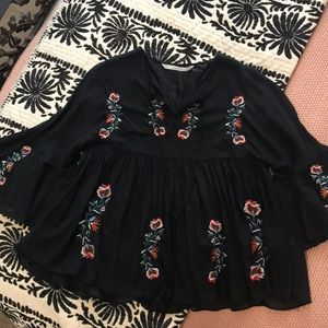 Zara - Embroidered Top